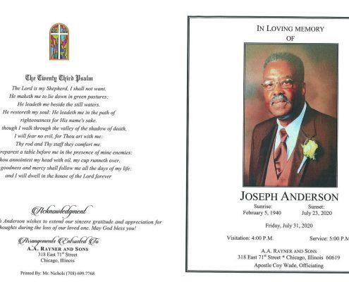 Joseph Anderson Obituary