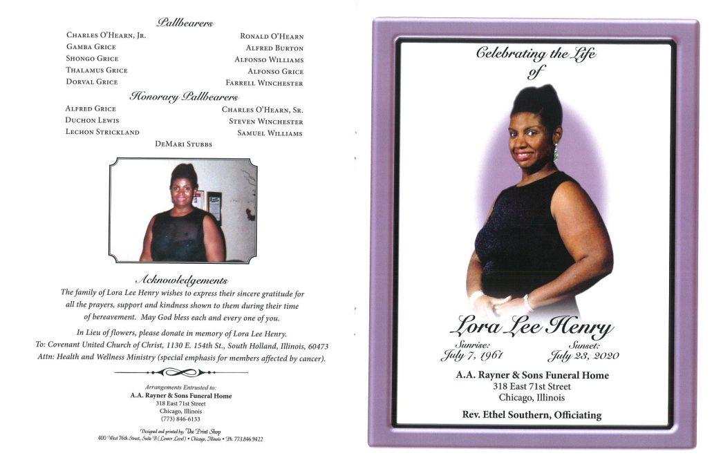 Lora Lee Henry Obituary