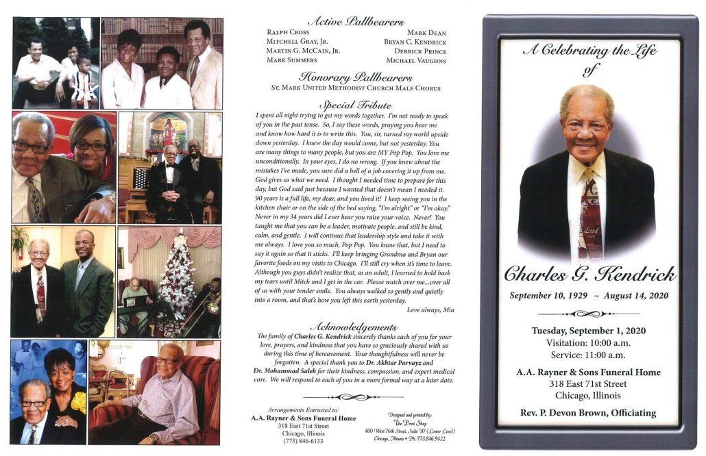 Charles G Kendrick Obituary