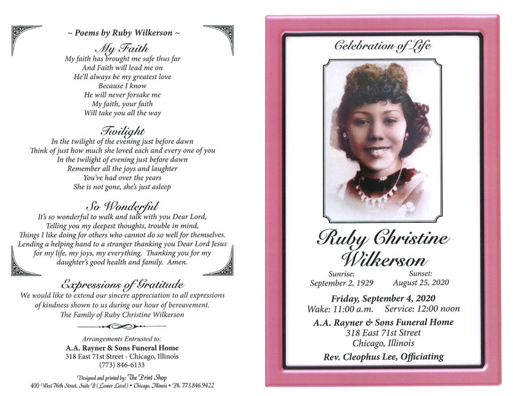 Ruby C Wilkerson Obituary