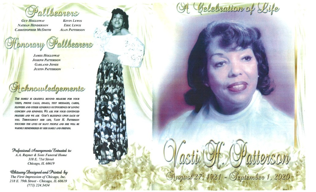 Vasti H Patterson Obituary