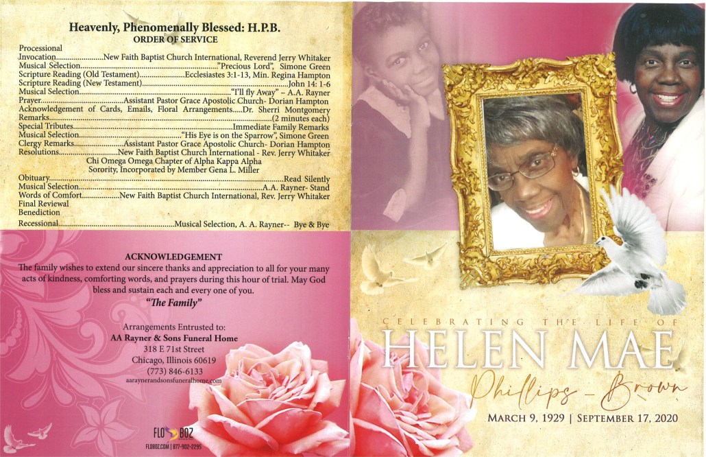 Helen M Phillips Brown Obituary