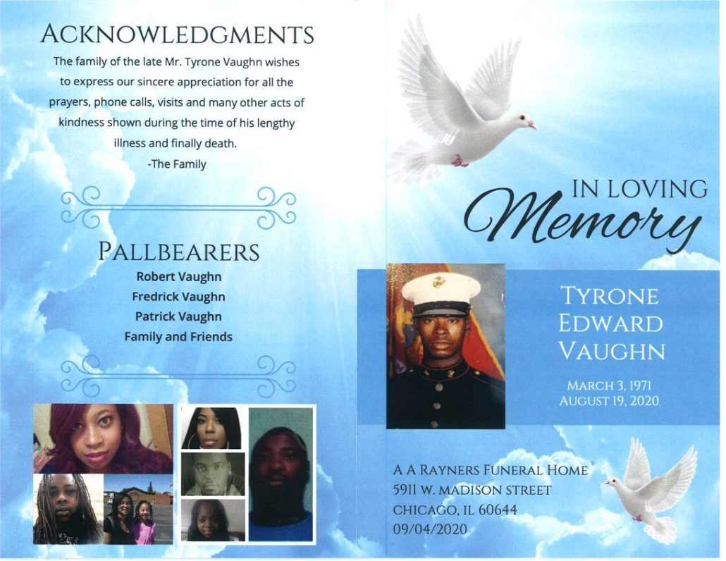 Tyrone E Vaughn Obituary