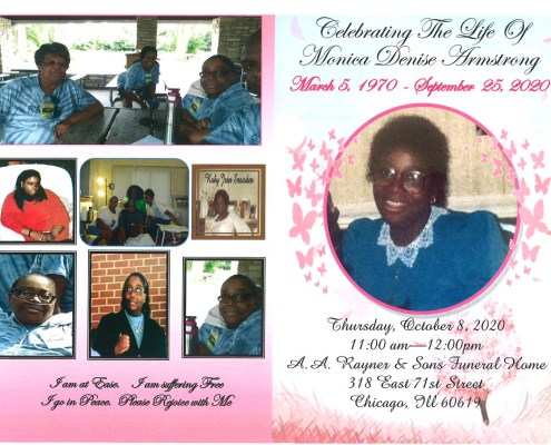 Monica D Armstrong Obituary