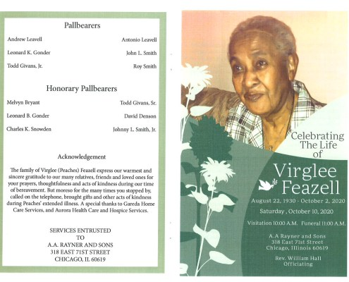 Virglee Feazell Obituary