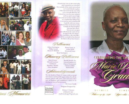 Marie D Grant Obituary