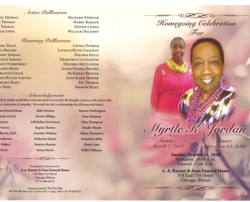 Myrtle K Jordan Obituary