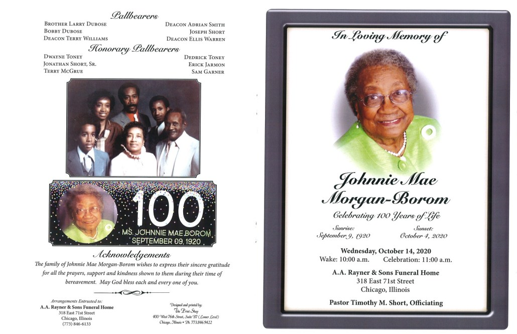Johnnie M Morgan Brown Obituary