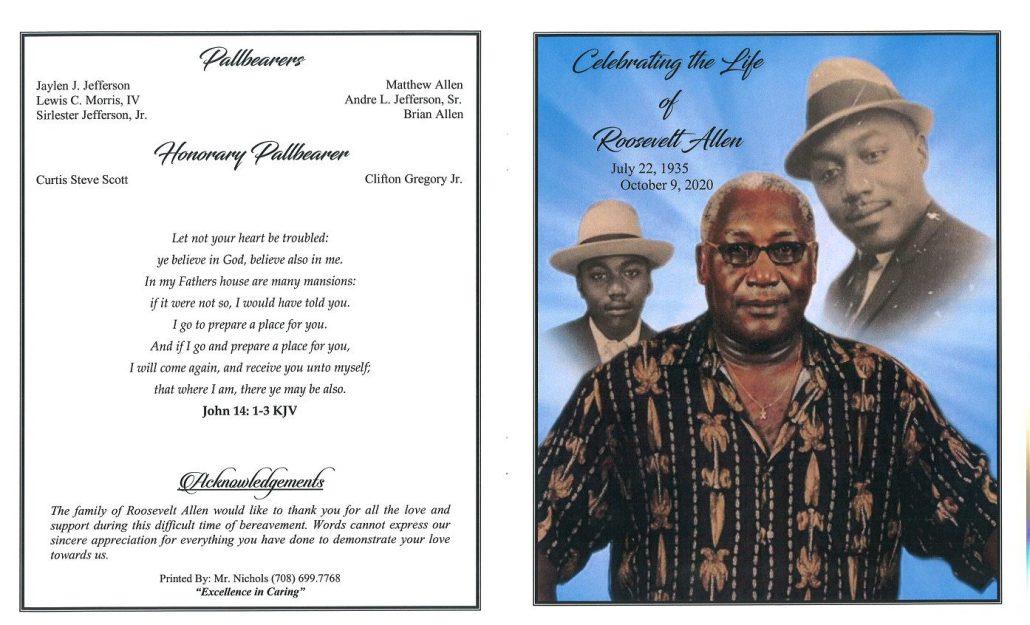 Roosevelt Allen Obituary
