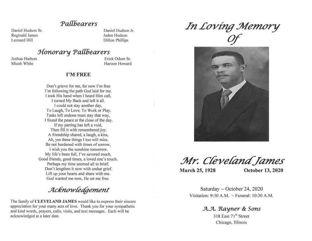 Cleveland James Obituary