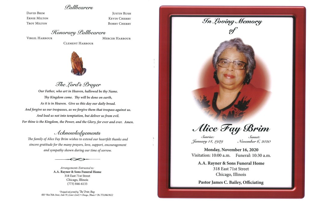 Alice F Brim Obituary