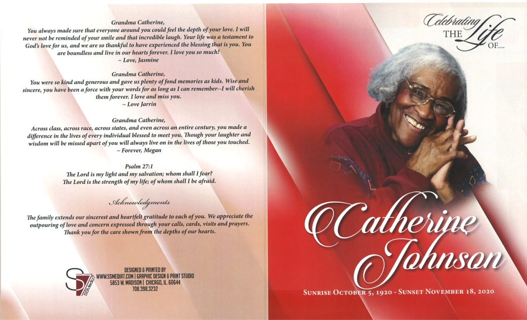 Catherine Johnson Obituary