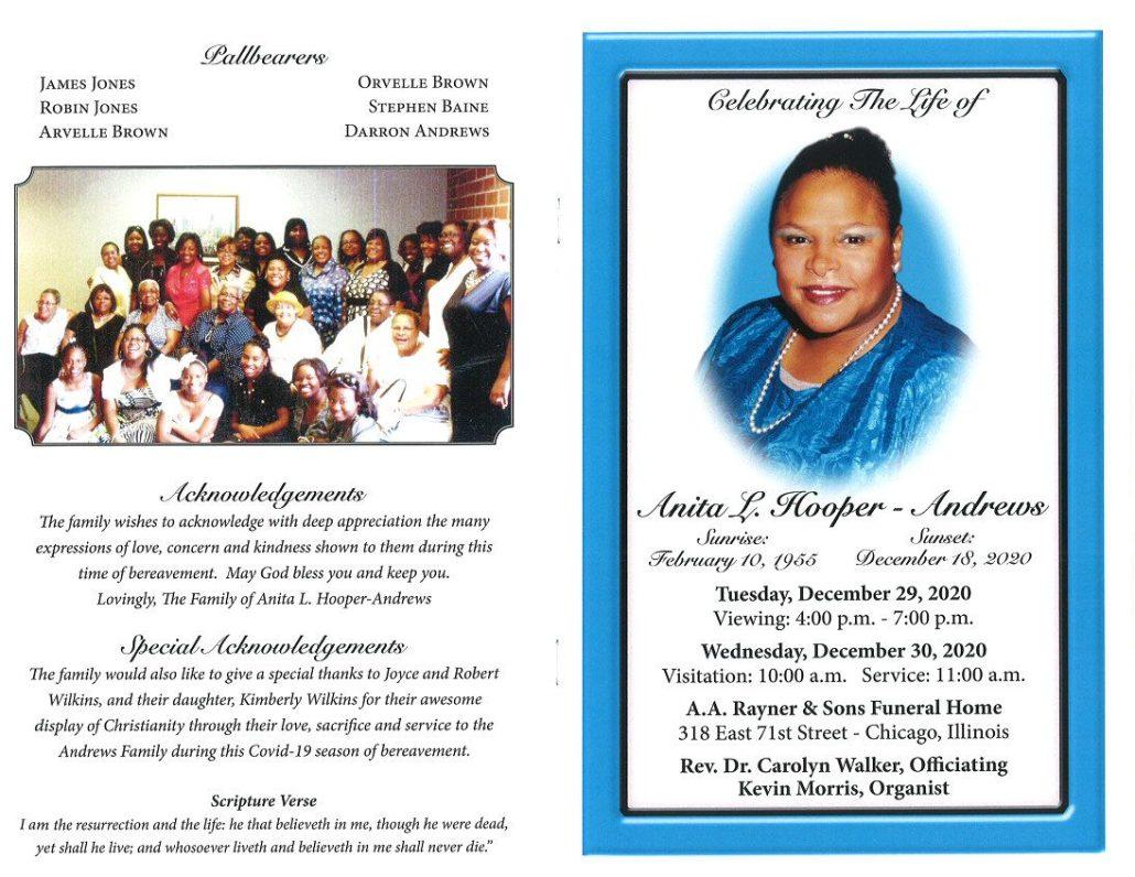 Anita L Hooper Andrews Obituary