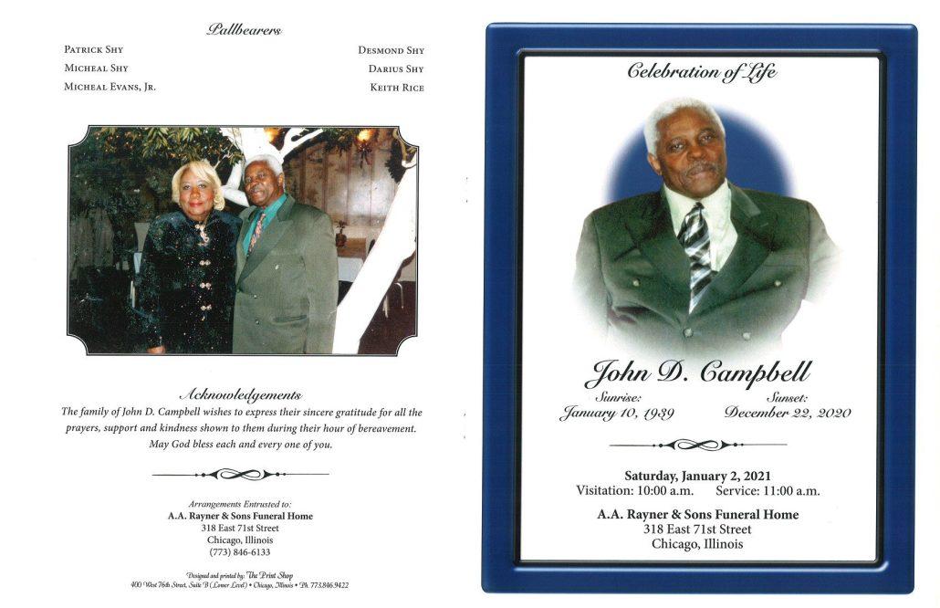 John D Campbell Obituary