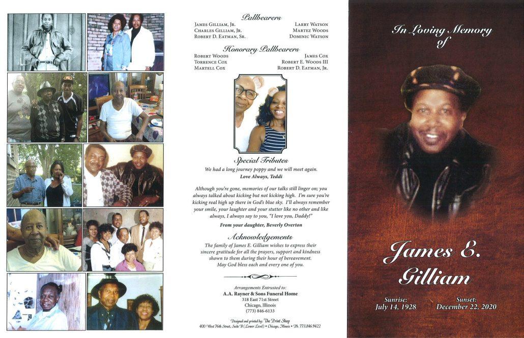 James E Gilliam Obituary