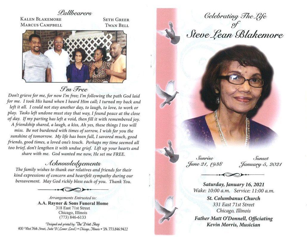 Steve L Blakemore Obituary