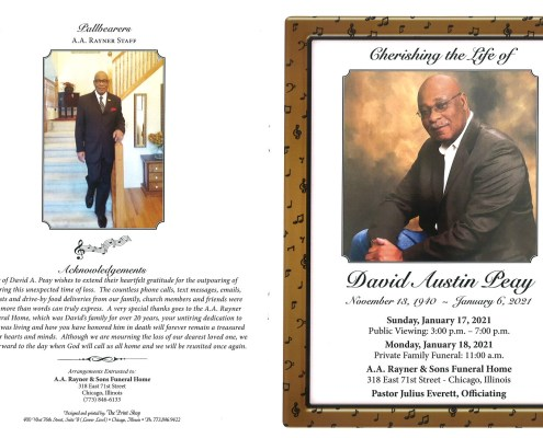 David Austin Peay Obituary