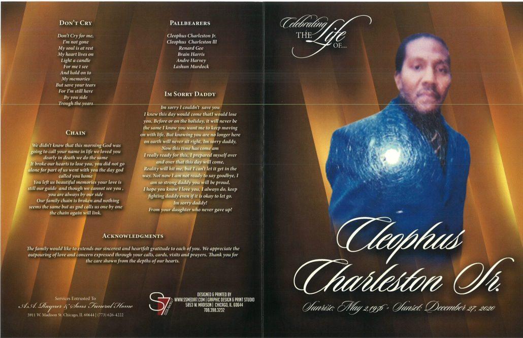 Cleophus Charleston Sr Obituary