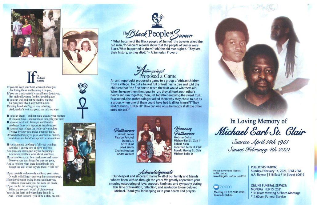 Michael Earl St.Clair Obituary