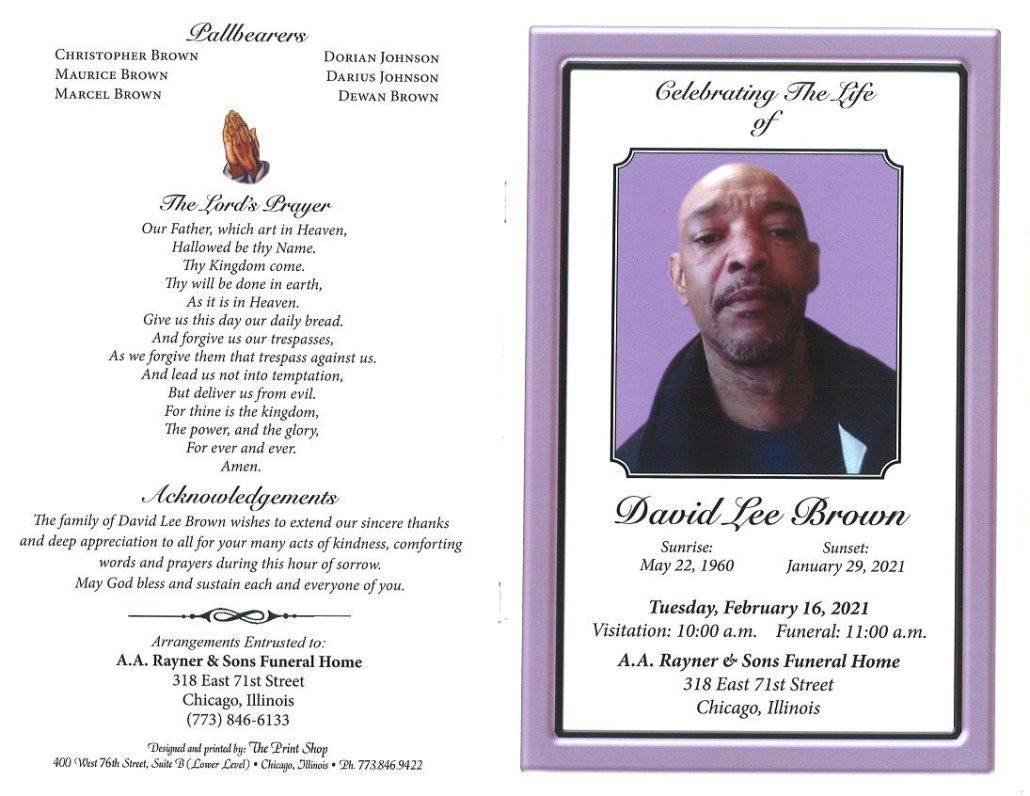David Lee Brown Obituary