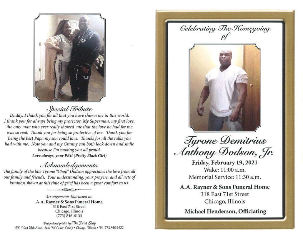 Tyrone D A Dodson Jr Obituary