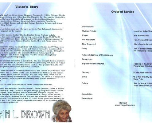 Vivian L Brown Obituary