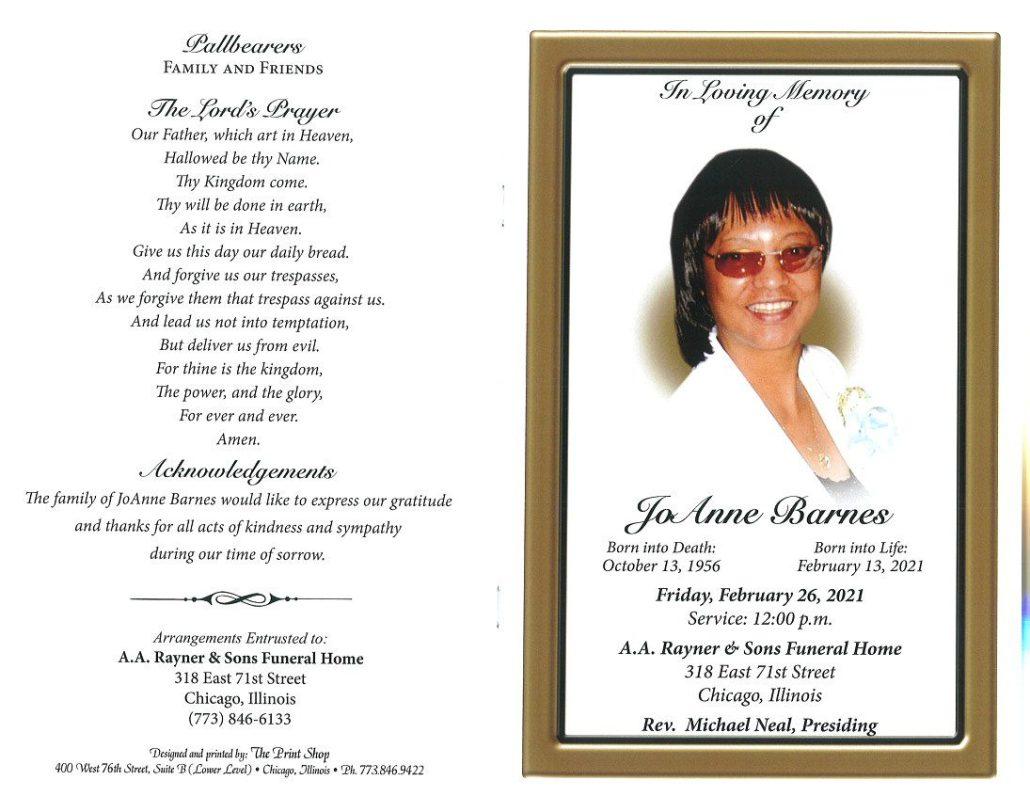 Joanne Barnes Obituary