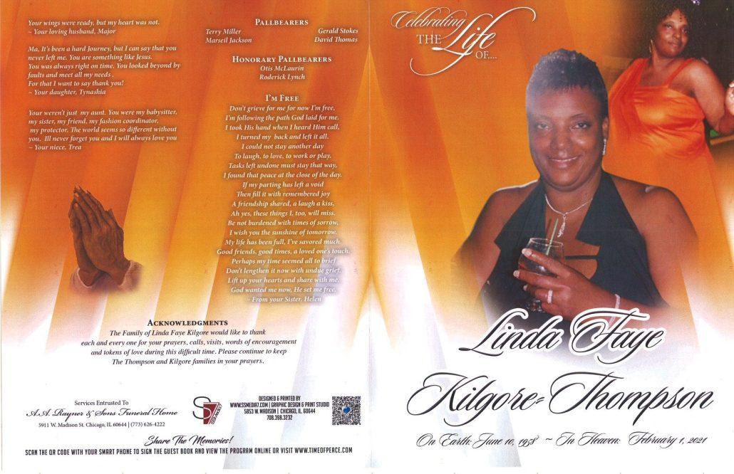 Linda F Kilgore Thompson Obituary