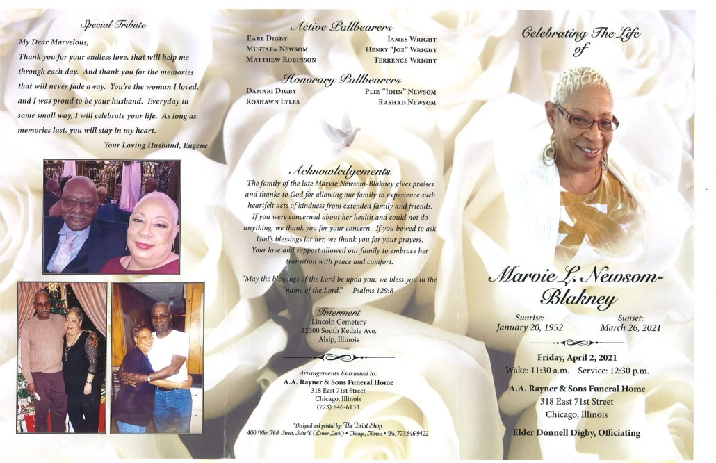 Marvie L Newsom Blankney Obituary