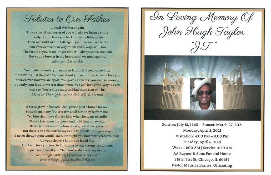 John H Taylor Obituary