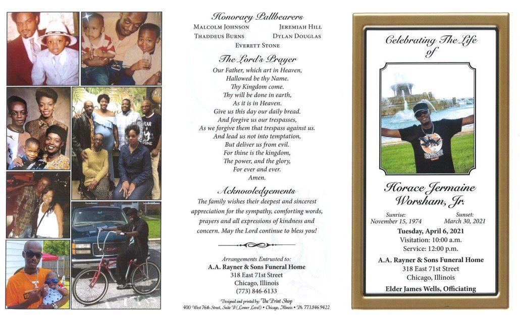 Horace J Worsham Jr Obituary