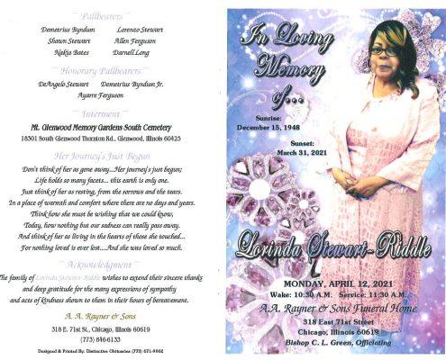 Lorinda Stewart Riddle Obituary