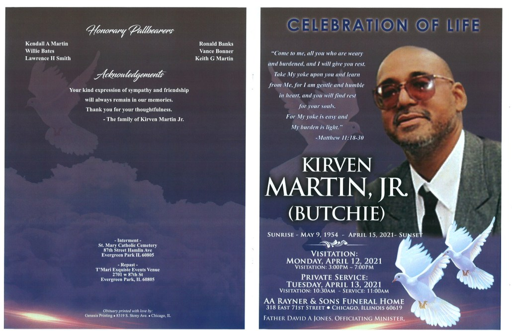 Kirven Martin Jr Obituary