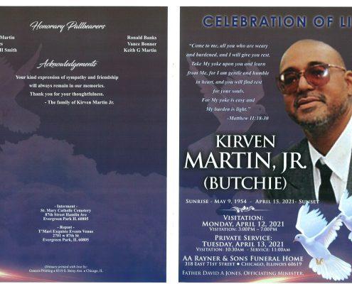 Kirven Martin Jr Obituary