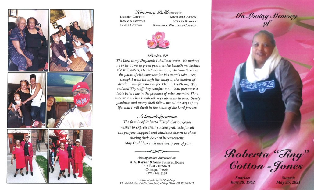 Roberta Cotton Jones Obituary