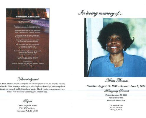 Anita Thomas Obituary