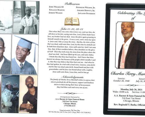 Charles T Marshall Obituary
