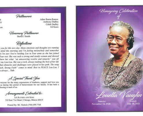 Louella Vaughn Obituary