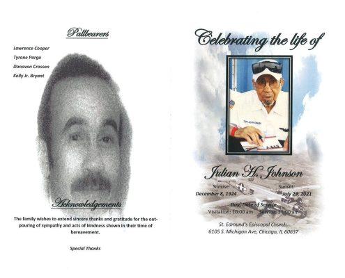 Julian H Johnson Obituary