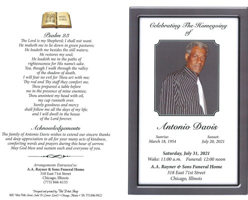 Antonio Davis Obituary