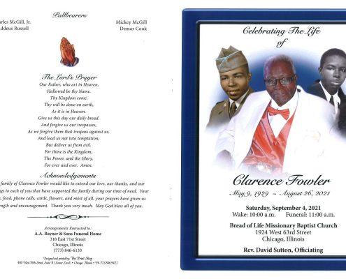 Clarence Fowler Obituary