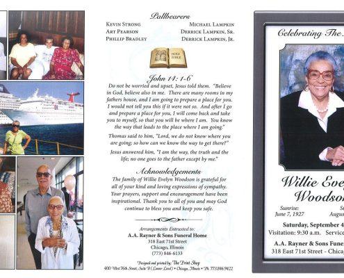 Willie W Woodson Obituary