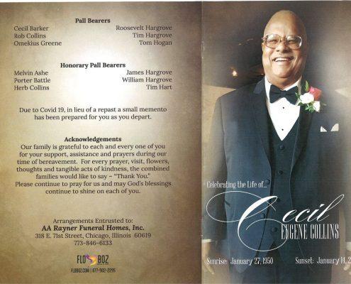 Cecil E Collins Obituary