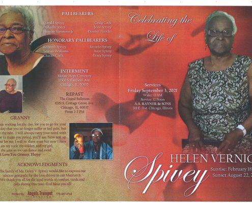 Helen V Spivey Obituary