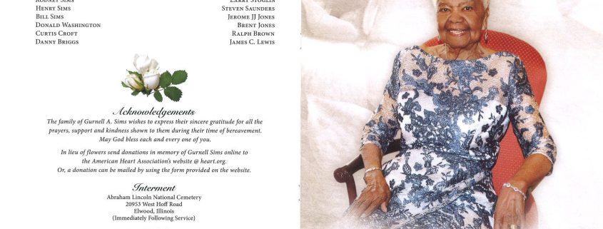 Gurnell A Sims Obituary