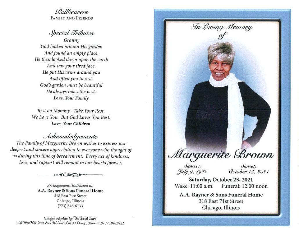 Marguerite Brown Obituary