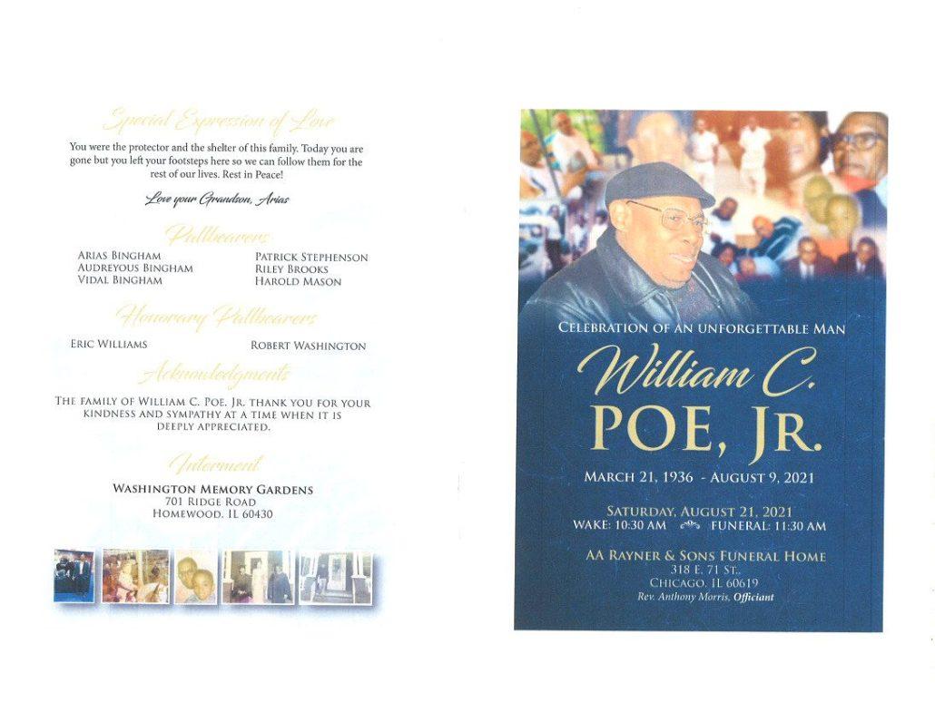 William C Poe Jr Obituary