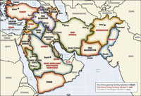 Map New Middle East