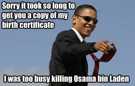 Barack Obama kills Osama