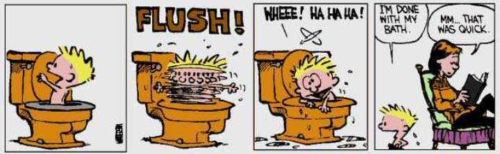 Calvin & Hobbes in bad